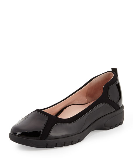 Taryn Rose Adin Patent Slip On, Black