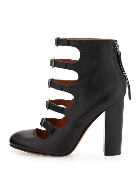 Multi-Strap Ankle Bootie, Black