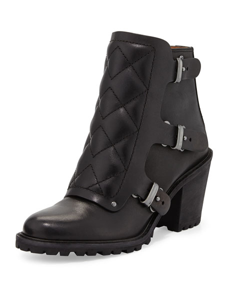 MARC by Marc Jacobs Quilted Moto Ankle Bootie