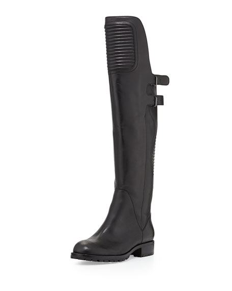Motorcycle Over-the-Knee Boot, Black