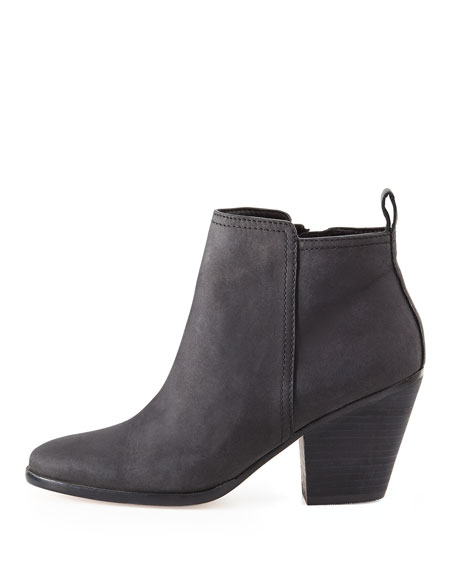 Chesney Leather Ankle Bootie, Black