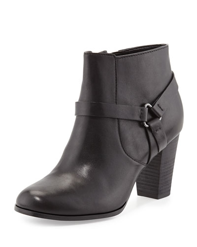 Cole Haan Calixta Leather Ankle Bootie, Black