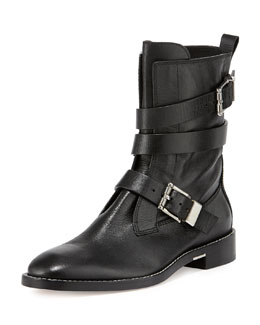 Alexander Wang Louise Leather Moto Boot