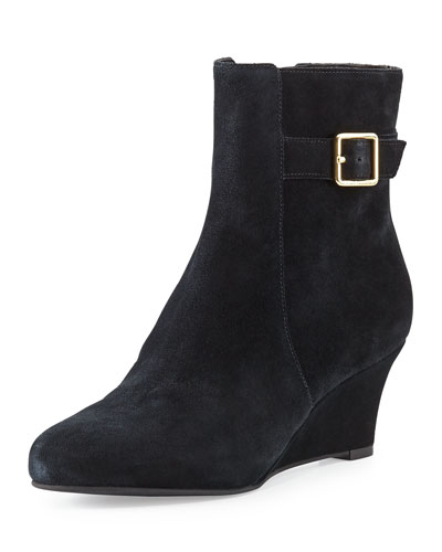 Cole Haan Aimee Suede Wedge Ankle Boot, Black