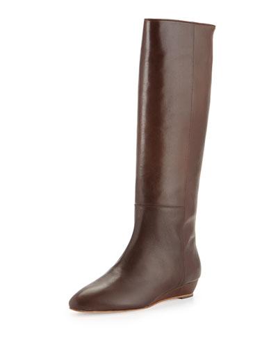 Loeffler Randall Matilde Demi-Wedge Knee Boot, Chestnut