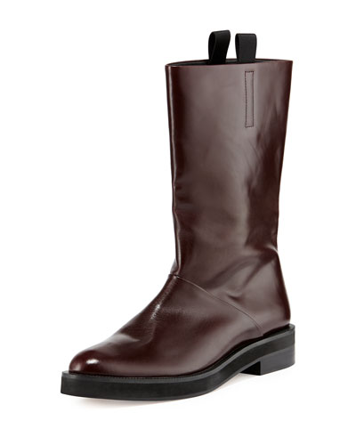 Alexander Wang Liberty Leather Flat Boot, Horizon