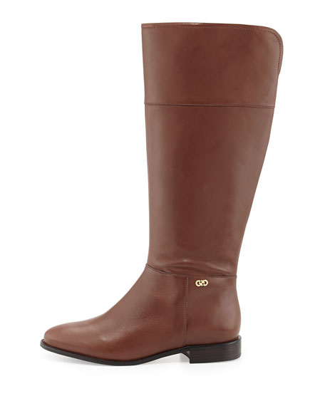 Primrose Leather Riding Boot, Harvest Brown