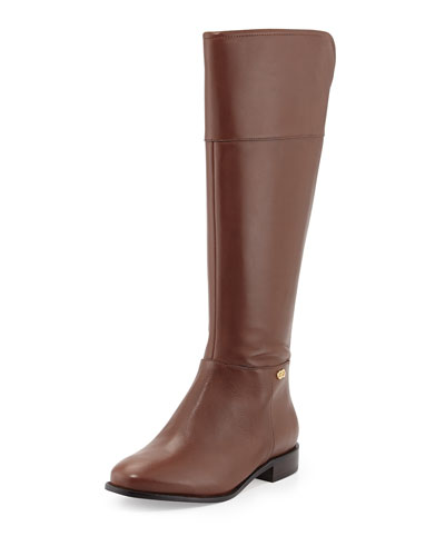 Cole Haan Primrose Leather Riding Boot, Harvest Brown