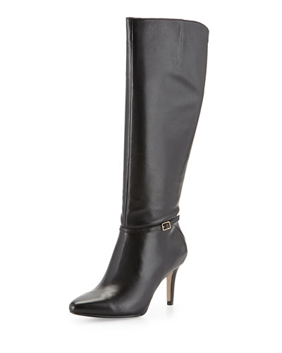 Cole Haan Garner Leather Knee Boot, Black