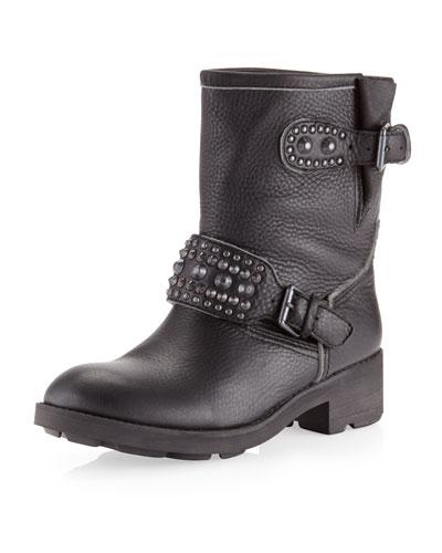 Ash Rebel Motorcycle Boot, Black