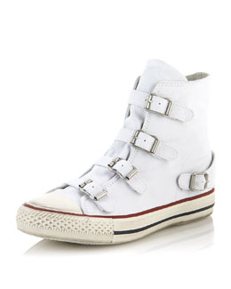 Ash Virgin Buckled Sneaker, White