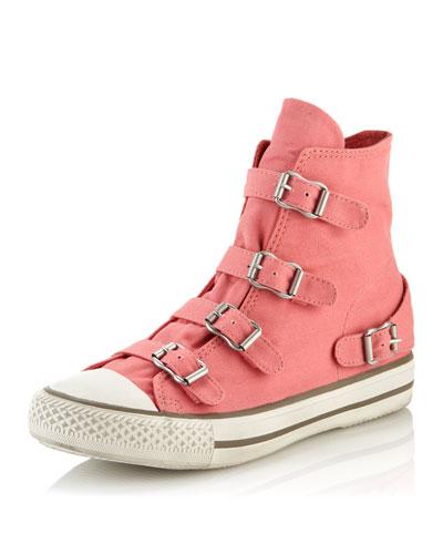 Ash Virgin Buckled Sneaker, Peach