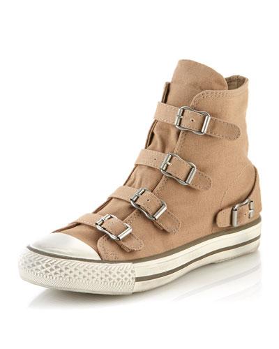 Ash Virgin Buckled Sneaker, Chamois