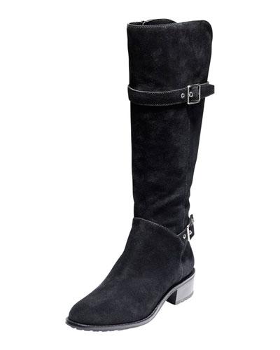 Cole Haan Indiana Waterproof Suede Tall Boot, Black