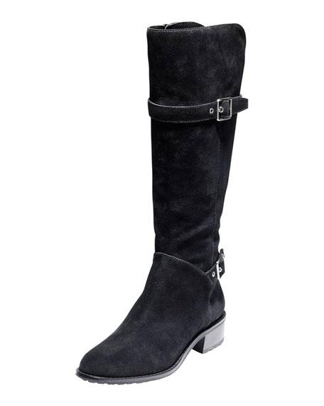 cole haan indiana waterproof suede boot black