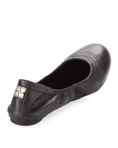 Molly 1 Matte Leather Ballet Flat, Black