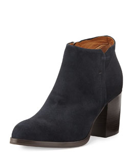 Alberto Fermani Anzio Low-Cut Suede Ankle Boot, Blue Notte