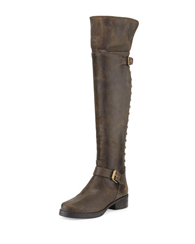 Tory Burch Runway Tarulli Over-the-Knee Boot, Turvo