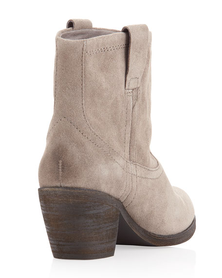 Ash Nina Suede Ankle Boots, Stone