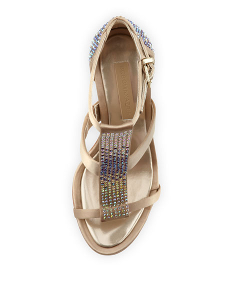 Lilie Bejeweled Sandal, Prosecco
