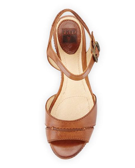 18f04f82e893d Frye Carlie Seam Leather Wedge Sandal