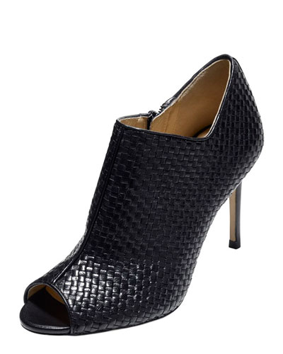 Cole Haan Annabel Woven Leather Bootie, Black