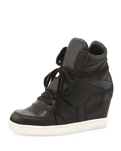 Ash Coolter Wedge Sneaker, Black