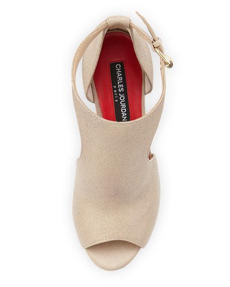 Petunia Peep-Toe D'Orsay Sandal, Taupe