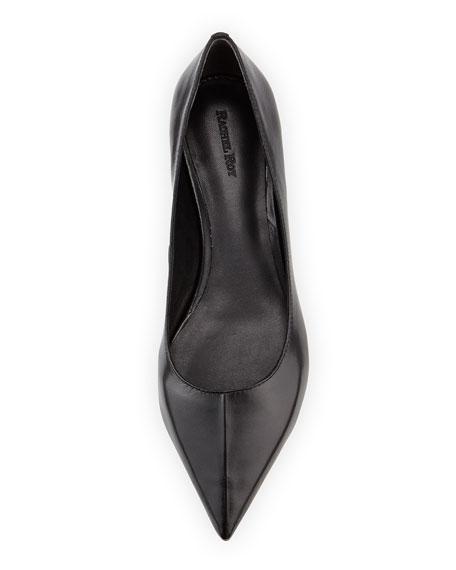 Ronney Leather Skimmer Flat, Black