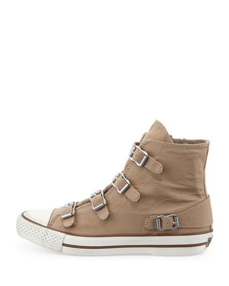 Virgin Buckled Canvas Sneaker, Chamois