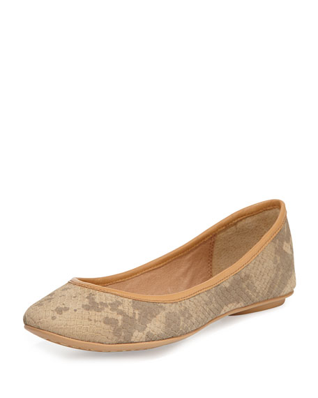 Instinct Leather Ballet Flat, Sand