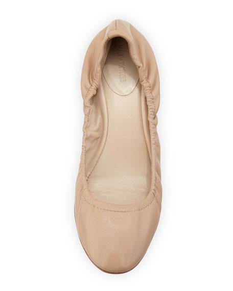 Canton Studded-Heel Ballerina Flat