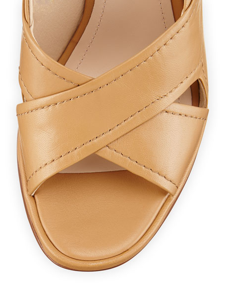 Pabla Crisscross Slingback Sandal, Cigar