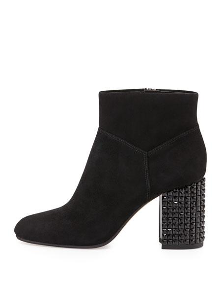 Arabella Stud-Heel Ankle Boot