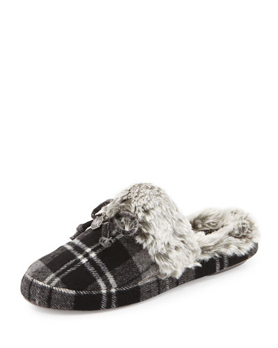Carter Plaid Slipper, Heather Gray