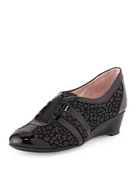 Taryn Rose Paislee Printed Wedge Sneaker, Black