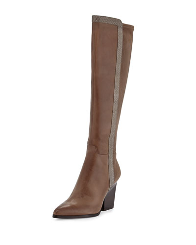 Donald J Pliner Vannah Pointed Stretch-Back Knee Boot