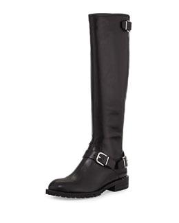 Donald J Pliner Vive Buckled Knee Boot, Black