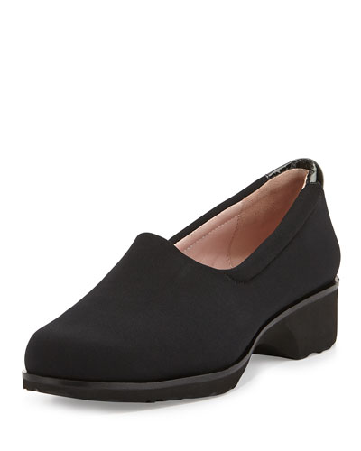 Tutu Stretch Fabric Slip-On, Black
