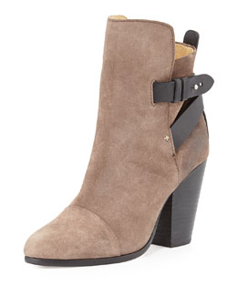 Rag & Bone Kinsey Cap-Toe Suede Ankle Boot, Taupe