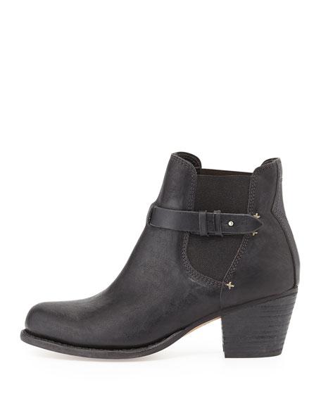 Durham Slip-On Leather Boot, Black