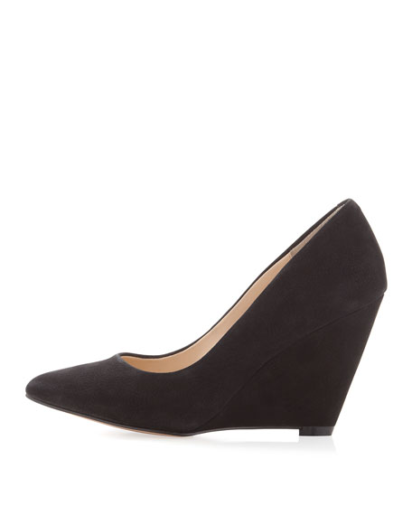 Maia Wedge Pointed Toe Pump, Black