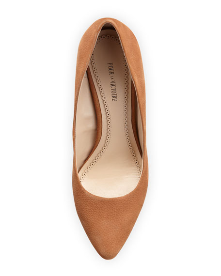 Maia Wedge Pointed Toe Pump, Cognac