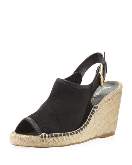 Mariela Slingback Wedge, Black