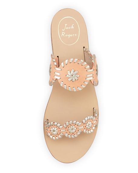 Lauren Double-Strap Sandal, Tangerine