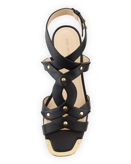 Kassia Studded Sandal, Black