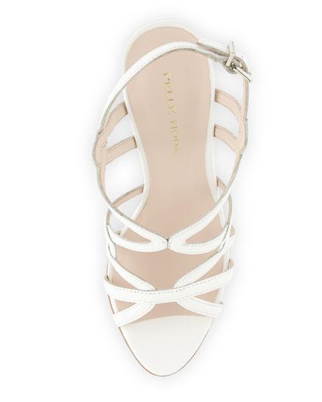 Flirty Patent Leather Sandal, White