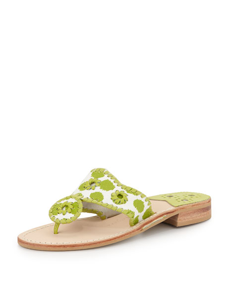 Cabo Canvas Sandal, Lime