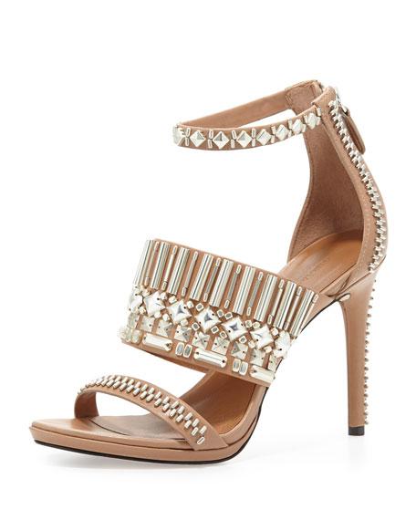 Padma Embellished Sandal, Almond