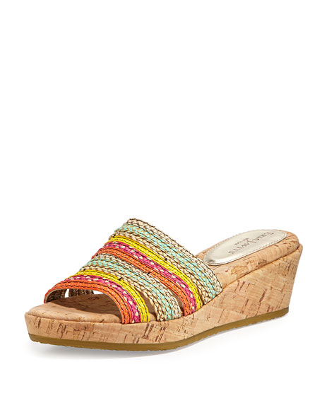Eric Javits Squishee Bet Wedge Slip-On, Tropic Mix